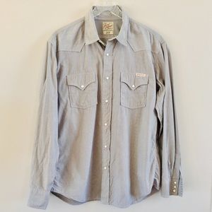 Men's Lucky Brand Pearl Snap Shirt Size Large